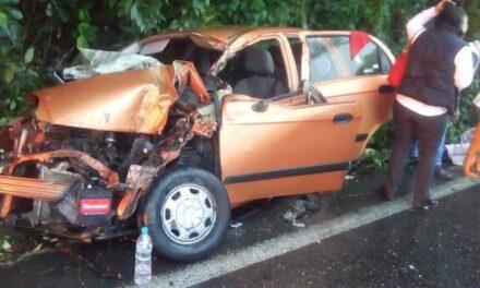Accidente en la carretera federal Gutiérrez Zamora – Papantla