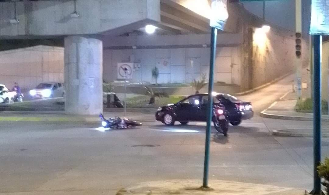 Motociclista lesionado en accidente de tránsito sobre la avenida Murillo Vidal