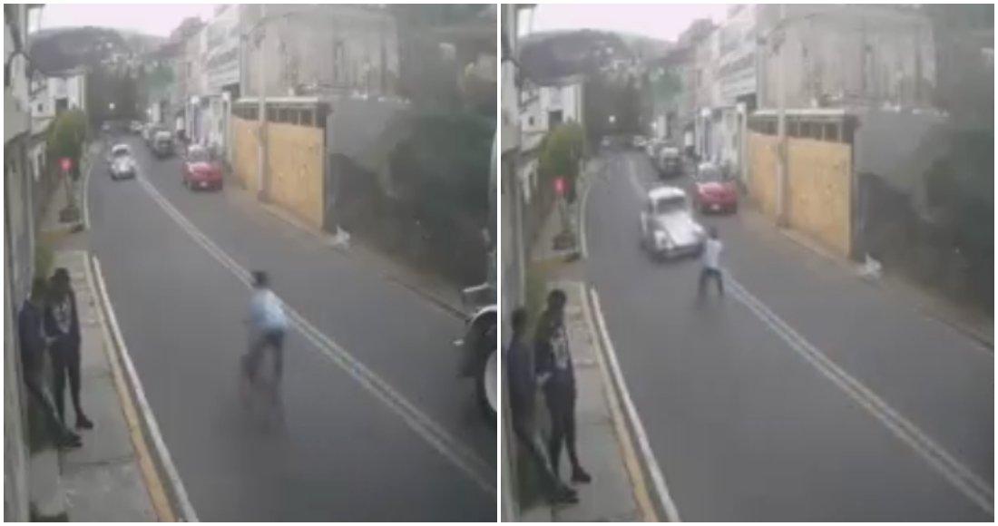 VIDEO ⚠️ FUERTE: Conductor atropella a un niño que viajaba en bicicleta en Cuajimalpa
