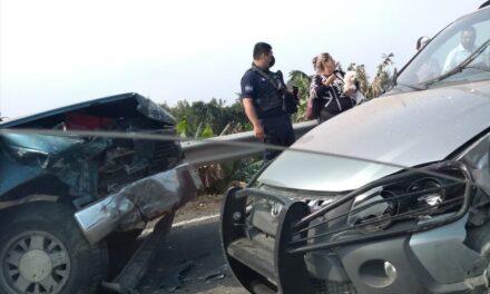 Accidente en la carretera Cardel-Nautla, a la altura de El Raudal