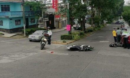 Motociclista lesionado en la avenida Américas, Xalapa