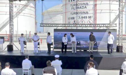 La secretaria Rocio Nahle y el gobernador encabezaron la inauguración de la Terminal de Almacenamiento de Refinados en Veracruz