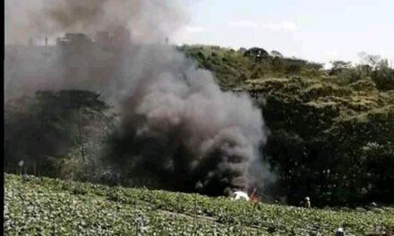 Se reporta la caída de una aeronave en el municipio de Emiliano Zapata. En este momento, fuerzas de tarea de los tres niveles de gobierno se encuentran atendiendo el incidente.