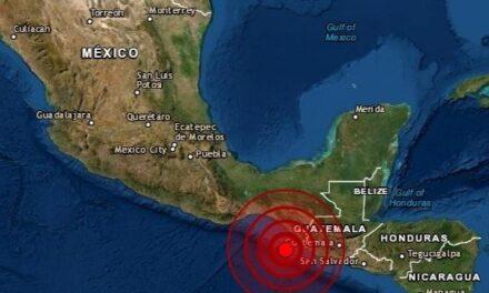SSN reporta dos sismos de magnitud 5.0 al suroeste de Chiapas