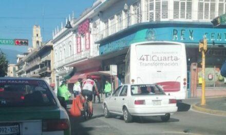 Accidente de tránsito sobre xalapeños Ilustres, Xalapa