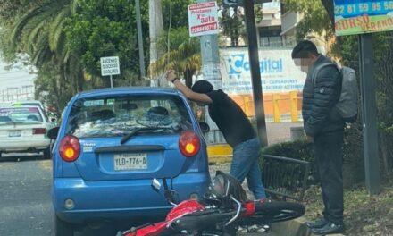 Accidente de tránsito sobre la avenida Manuel Ávila Camacho