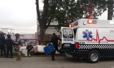 Persona lesionada en accidente de tránsito sobre la avenida Orizaba, Xalapa