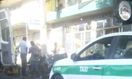 Motociclista lesionado en calle Ignacio de la Llave, a la altura de la iglesia