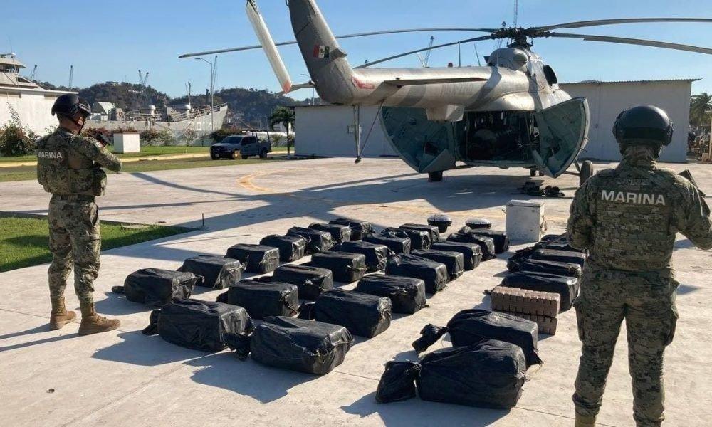 Semar asegura más de 730 kilos de cocaína en Colima