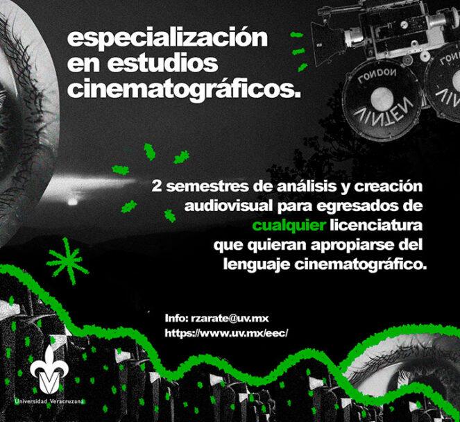 La UV invita a todos los interesados a cursar la Especialización en Estudios Cinematográficos