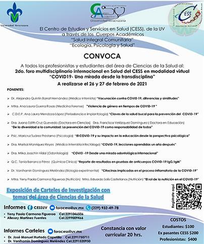 """El CESSllevará a cabo el 2do Foro Multidisciplinario """"Covid-19. Una mirada desde la transdisciplina"""""""