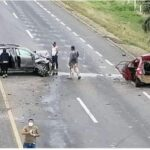 VIDEO: FUERTE ACCIDENTE EN LA AUTOPISTA LA TINAJA-ACAYUCAN