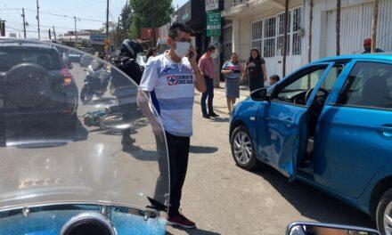 Accidente de tránsito sobre la avenida Chedraui Caram, a la altura del Aurrera