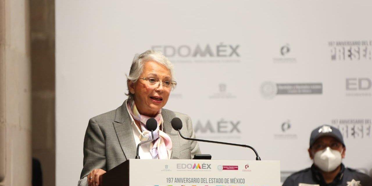 Participa Sánchez Cordero en el 197 Aniversario de la Fundación del Estado Libre y Soberano de México