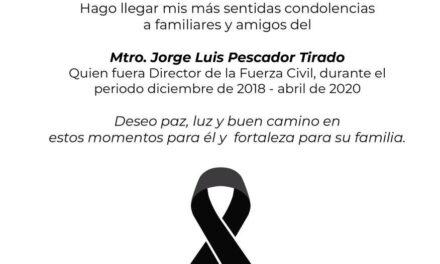 Fallece Jorge Luis Pescador Tirado, exdirector de la Fuerza Civil del Estado