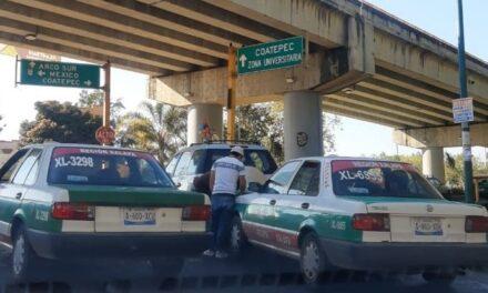 Accidente de tránsito sobre la avenida Rébsamen