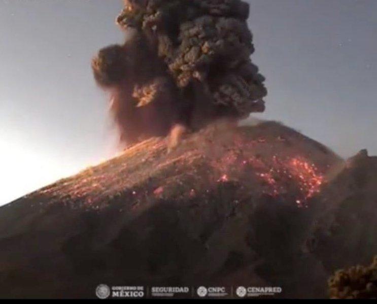 Especialistas analizan la actividad reciente del Popocatépetl