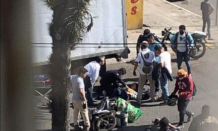 Motociclista lesionado en la avenida Villahermosa, Xalapa