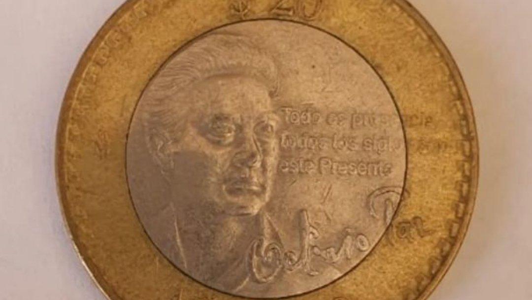 En internet, se vende moneda conmemorativa de Octavio Paz por hasta 5 mil pesos