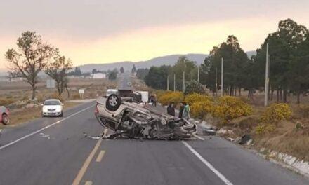 Se registra accidente en la carretera federal Perote – Totalco