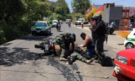 Elemento de la Fuerza Civil lesionado en accidente de tránsito sobre la carretera Xalapa- El Castillo