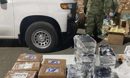 EJÉRCITO ASEGURA 418 KILOS DE COCAÍNA VALUADA EN MÁS DE 100 MDP EN CHIHUAHUA