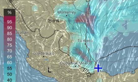 El frente frío núm. 46 ha ingresado al noroeste del Golfo de México