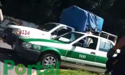 Accidente de tránsito sobre la avenida Rébsamen, Xalapa