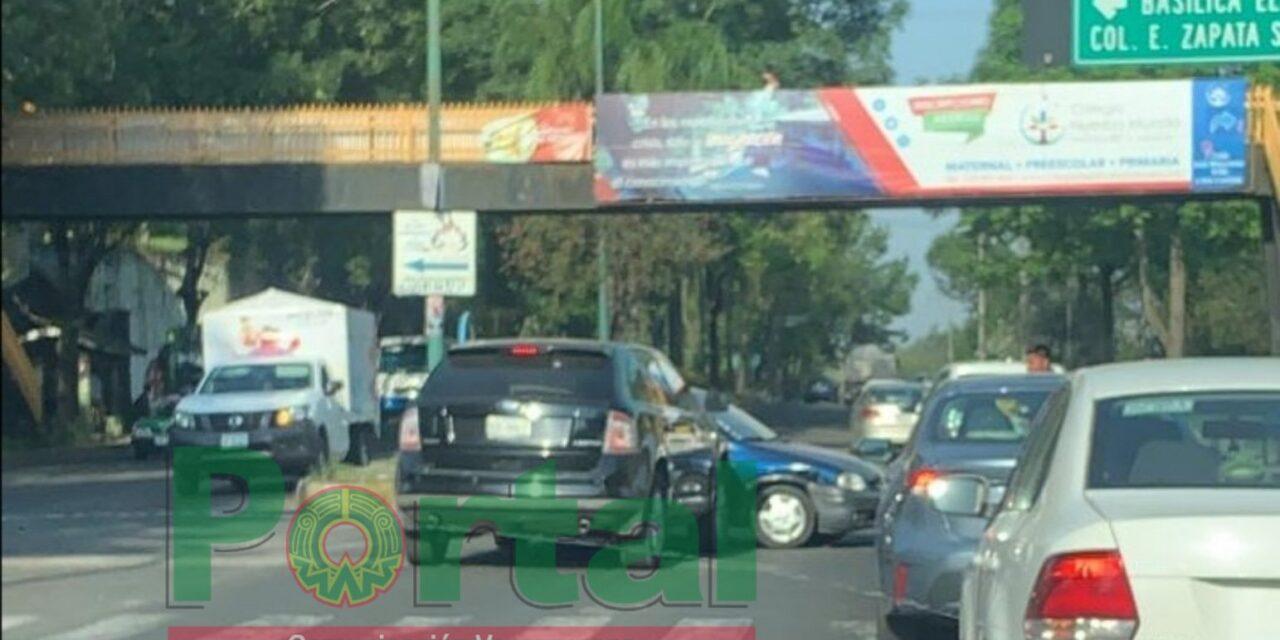 Accidente de tránsito sobre Circuito Presidentes, a la altura de la Colonia Zapata