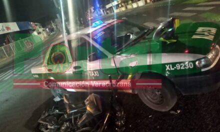 Motociclista lesionado en accidente de tránsito sobre Ruiz Cortines, xalapa