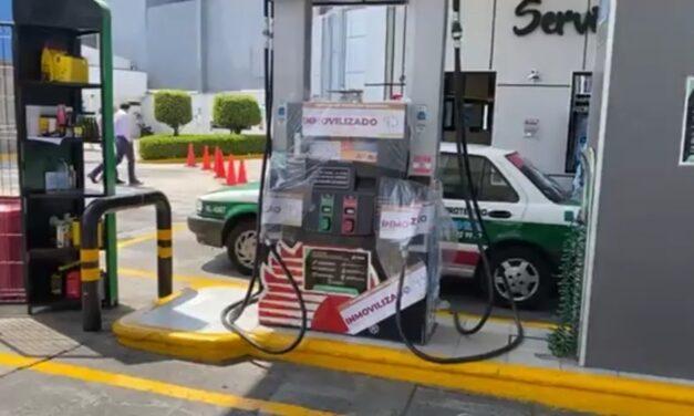 Inmoviliza Profeco Bombas de la gasolinera Paraíso en Xalapa