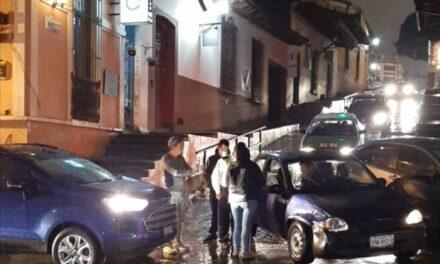 Accidente de tránsito sobre la calle Allende, Xalapa