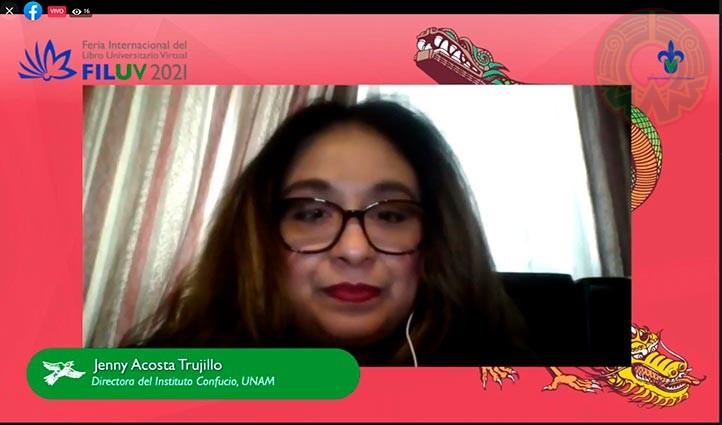Jenny Acosta, de la Escuela Nacional de Lenguas Lingüísticas y Traducción