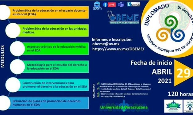 ISP-UV impartirá Diplomado El Derecho a la Educación en Unidades Médicas