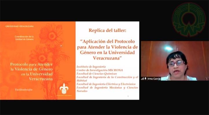 """Académicas enlaces de la Unidad de Género del Área Técnica impartieron el taller """"Aplicación del Protocolo de atención a la violencia de género en la UV"""""""
