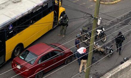 Motociclista lesionado en accidente de tránsito sobre la Avenida Villahermosa
