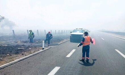 Precaución por incendio de pastizal en La Antigua