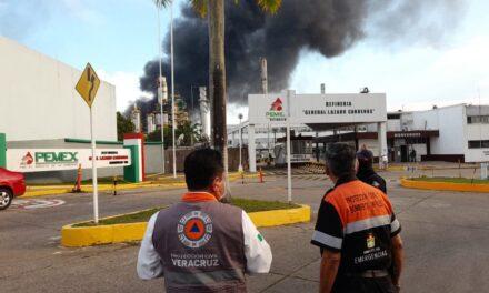 Incendio en refinería Lázaro Cárdenas en Minatitlán: Protección Civil de Veracruz