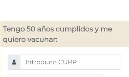 ADULTOS DE 50 a 59 AÑOS YA SE PUEDEN REGISTRAR PARA LA VACUNACIÓN