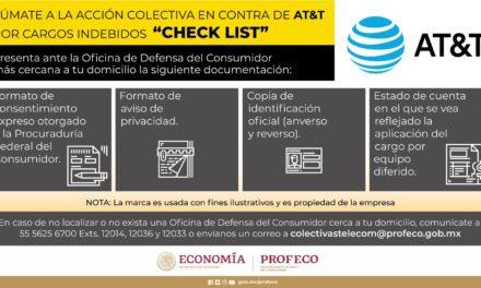 Inicia Profeco acción colectiva contra AT&T; cobro indebido a 844 mil personas