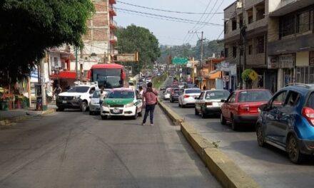 Accidente de tránsito sobre la avenida Rébsamen, en Xalapa