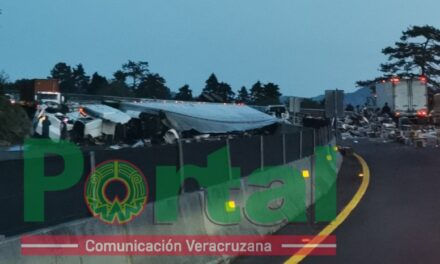 Pierde la vida en la autopista Perote – Xalapa