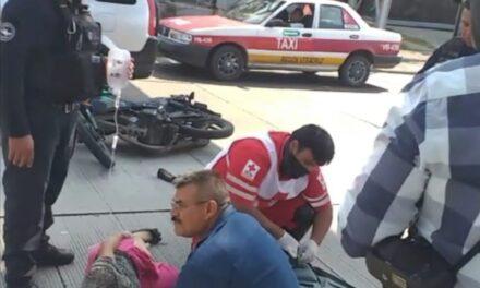 Persona de la tercera edad atropellada por motociclista en Boca del Río