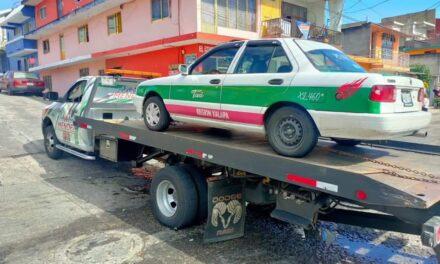 Realiza SSP operativo de verificación de taxis en Xalapa