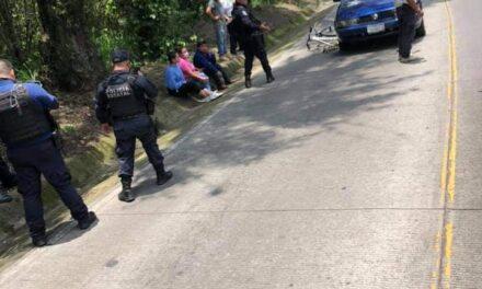 Dos ciclistas fueron atropellados en la carretera Coatepec-Xico