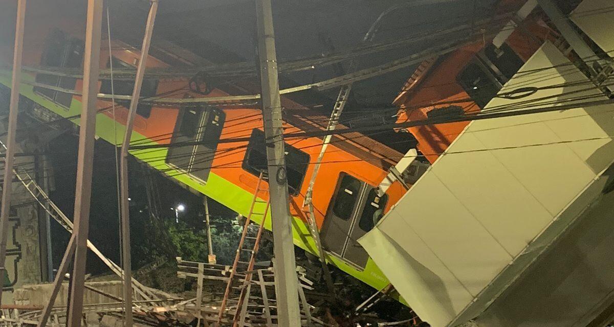 Videos: Cae estructura y vagón del metro en CDMX