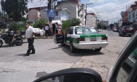 Accidente de tránsito sobre la avenida de la República, en Agua Santa 2