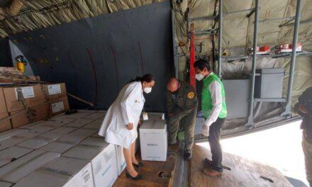 Llegan más vacunas de Pfizer a Veracruz.