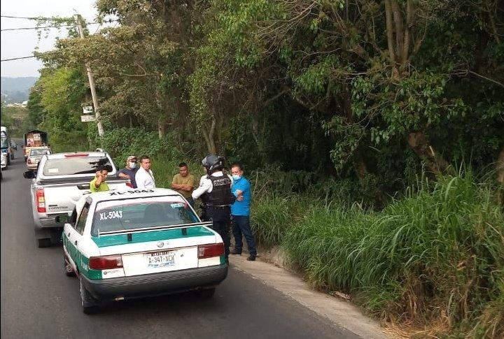 Accidente sobre la avenida Antonio Chedraui Caram, a la altura de Higueras