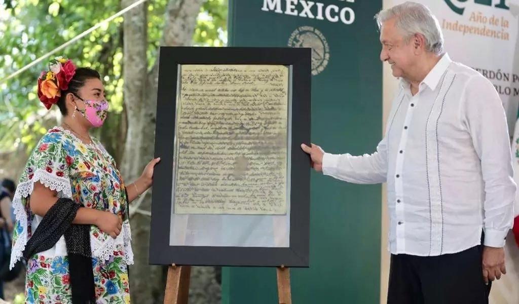 AMLO pide perdón al pueblo Maya por los agravios del pasado